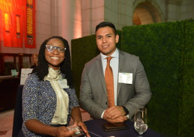 Charmione Kinder (Discovery Education) and Anton Casteneda (Rep. Hurd)
