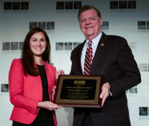 Representative Tom Cole and CEF Vice President Jocelyn Bissonnette