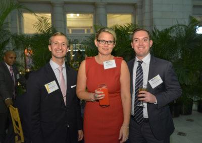 CEF Board Member Josh Westfall, Elizabeth Rorick and Lindsay Kubatsky