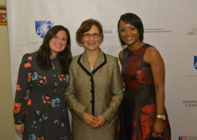 Rep. Suzanne Bonamici, Lakeisha Steele, and Ally Bernstein