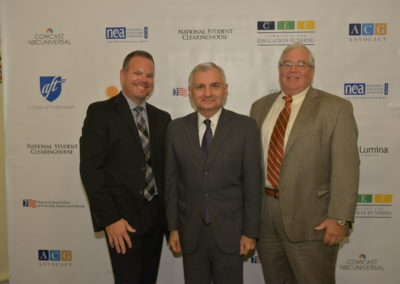 Senator Jack Reed and guests